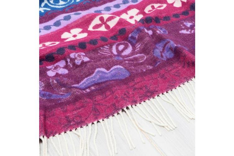 Desigual Throw Blanket - Soft Acrylic - 150cm x 170cm - Boho Jeans