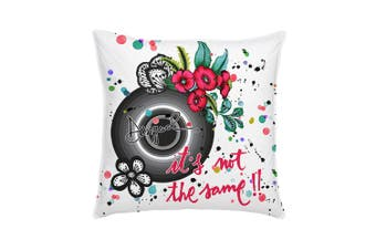 Desigual Cushion - 45cm x 45cm - Square - Cotton - Black & White Stripes
