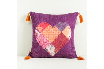 Desigual Cushion - 45cm x 45cm - Square - Cotton - Romantic Patch