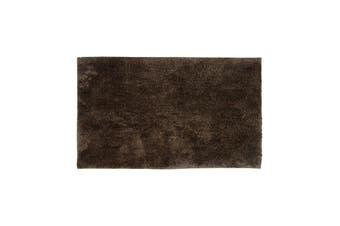 Bambury Microplush Range - Rubber Backed - Bath Mat - 50 x 80cm - Walnut