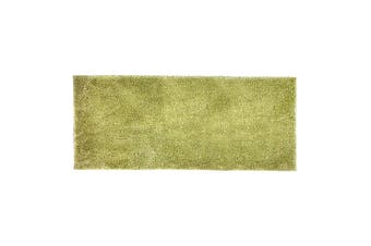 Bambury Microplush Range - Rubber Backed - Bath Runner - 50 x 140m - Wasabi
