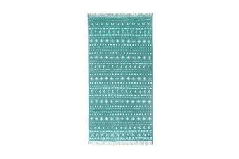 Bambury Nomad Range - 100% Cotton - Bath Towel - 70 x 140cm - Kingfisher