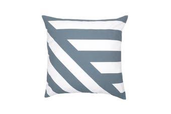 Bambury Deco Cushion - 43 x 43cm - Filled - Slate