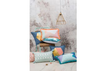 Bambury Gem Cushion - 43 x 43cm - Filled - Peach