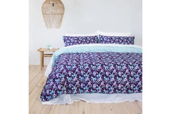 Bambury Evelyn Quilt Cover Set - 100% Cotton - King