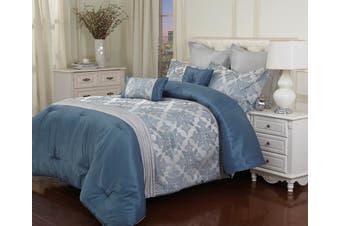 Bambury Kirstin 7 Piece Comforter Set - Quilt Cover Set & Cushions - Queen