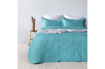 Bambury Paisley Coverlet Set - Bedspread - Embossed - Peacock - Queen/King