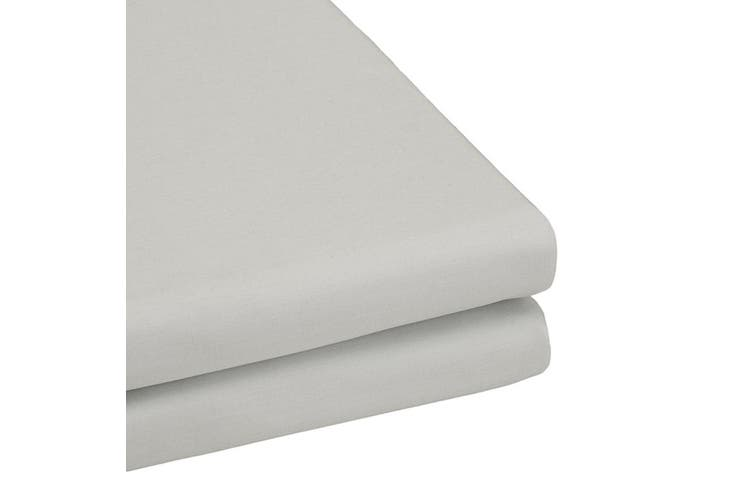 Bambury TRUFit Fitted Sheet - Wide Elastic - 50cm Deep - Silver - Queen