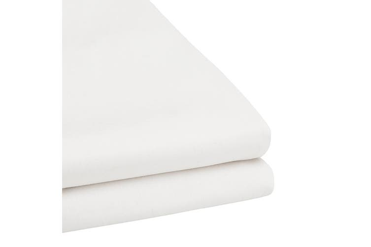 Bambury TRUFit Fitted Sheet - Wide Elastic - 50cm Deep - White - Queen
