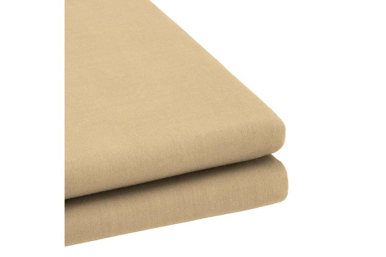 Bambury TRUFit Fitted Sheet - Wide Elastic - 40cm Deep - Cappuccino - Single