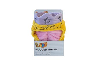 Bambury iSpy Hooded Kids Throw - 127 x 96cm - Princess
