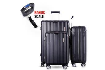 3pc Luggage Suitcase Trolley Set TSA Travel Carry On Bag Hard Case Lightweight G