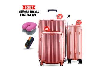 3pc Luggage Suitcase Trolley Set TSA Travel Carry On Bag Hard Case Lightweight J