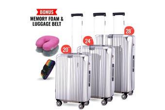 3pc Luggage Suitcase Trolley Set TSA Travel Carry On Bag Hard Case Lightweight I