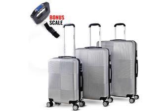 3pc Luggage Suitcase Trolley Set TSA Travel Carry On Bag Hard Case Lightweight F