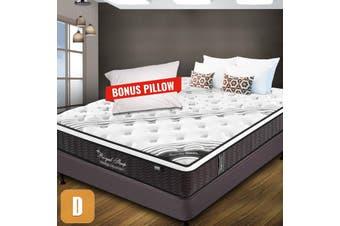 DOUBLE Mattress Bed Euro Top Pocket Spring Firm Foam 33CM *9 Zone *Bonus Pillow