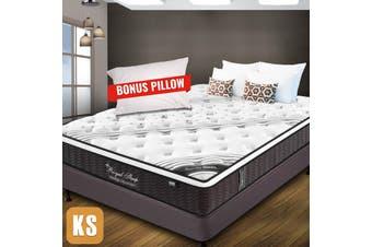 KING SINGLE Mattress Bed Euro Top Pocket Spring Firm Foam 33CM *9 Zone *Pillow
