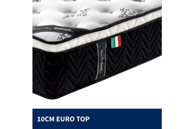 Dick Smith Queen Mattress Euro Top 9 Zone Pocket Spring