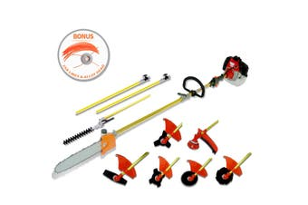 Black Eagle Pole Chainsaw Hedge Trimmer Brush Cutter Whipper Snipper Multi Tool