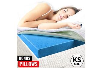 Royal Sleep - COOL GEL Memory Foam Mattress Topper King Single BAMBOO Fabric 8CM