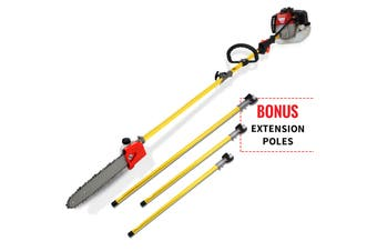 NEW 52CC Pole Chainsaw Brushcutter Trimmer Saw Pruner Brush Cutter Petrol Tree