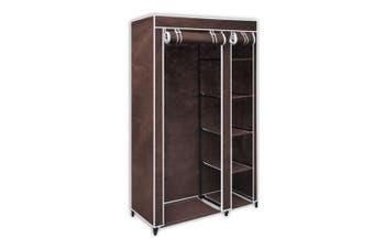5 Shelves Brand New Easy to assemble Portable Wardrobe - brown