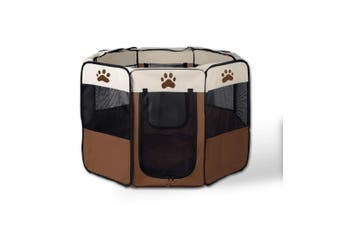 8 Panel Portable Puppy Dog Pet Exercise Playpen Crate - Large