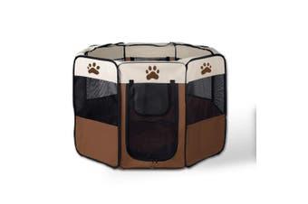 8 Panel Portable Puppy Dog Pet Exercise Playpen Crate - Medium