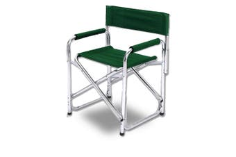 Directors Aluminium Folding Chair Camping Picnic Director Fishing Foldable Green