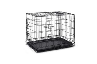"""48"""" Portable Pet Dog Cage Collapsible Metal Crate Kennel"""