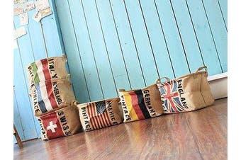 National Flags Linen Zakka Vintage Storage Toy Laundry Shopping Basket Fold Bin - The USA