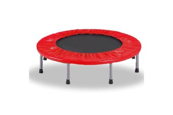 Mini Trampoline Jogger Rebounder Home Gym Workout Fitness - red - 40inch