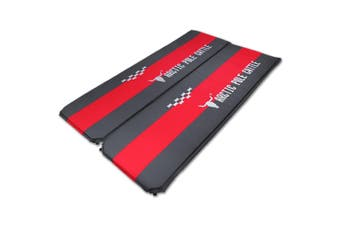 2 x 5cm Thick Self Inflating Mattress Sleeping Mat Air Bed Camping Camp Hiking Joinable Red