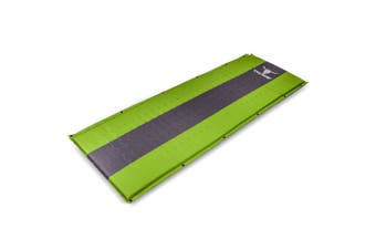 Self Inflating Mattress Sleeping Mat Air Bed Camping Camp Hiking Joinable Single - green