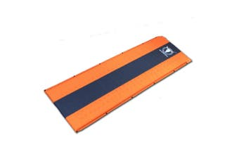 Self Inflating Mattress Sleeping Mat Air Bed Camping Camp Hiking Joinable Single - orange
