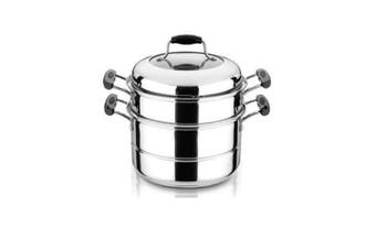 26cm Double Tier Stainless Steel Steamer Set