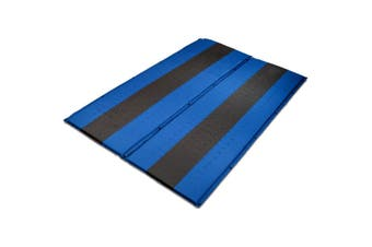 Double Self Inflating Mattress Sleeping Mat Air Bed Camping Hiking Joinable - blue