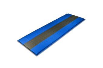 Self Inflating Mattress Sleeping Pad Mat Air Bed Camping Camp Hiking Joinable - blue