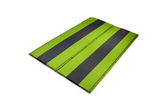 Double Self Inflating Mattress Sleeping Mat Air Bed Camping Hiking Joinable - green