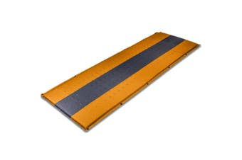 Self Inflating Mattress Sleeping Pad Mat Air Bed Camping Camp Hiking Joinable - orange