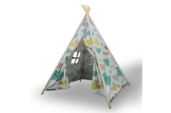 Giant Cotton Canvas Kids Teepee Children Pretend Play Tent Indoor Outdoor Party Cloud