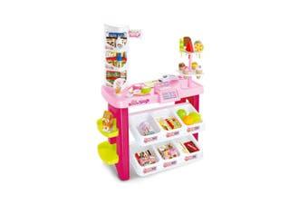 Kids Supermarket Pretend Play Ice cream Dessert Shop Toys Set Scanner Register