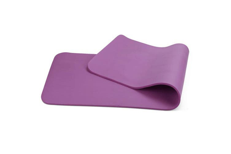 10mm Extra Thick NBR Yoga Mat Gym Pilates Fitness Exercise - purple