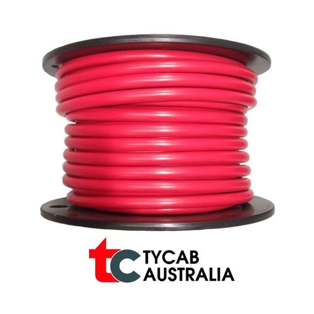 6 B/&S Cable Single Core x 3m 12v Red Sheath Stranded