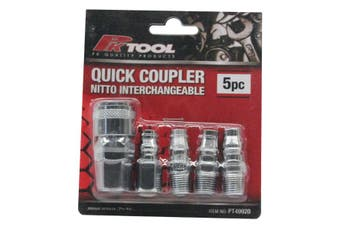 PK Tools Airline Fitting Quick Coupler Nitto Interchangeable 5pc