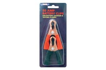 Battery Clamps 2 Piece 12 VOLT 50 AMP Pos / Neg