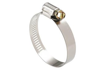 Part Stainless Steel Perforated Hose Clamp Pack 78mm - 102mm 10 Pieces