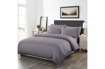Royal Comfort 1200TC 6 Piece Fitted Sheet Quilt Cover & Pillowcase Set UltraSoft - Queen - Charcoal