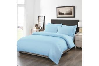 Royal Comfort 1200TC 6 Piece Fitted Sheet Quilt Cover & Pillowcase Set UltraSoft - Queen - Sky Blue