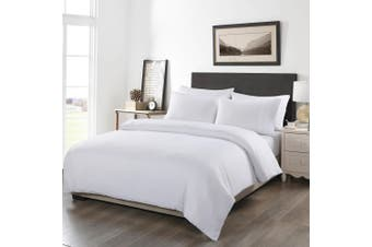 Royal Comfort 1200TC 6 Piece Fitted Sheet Quilt Cover & Pillowcase Set UltraSoft - King - White